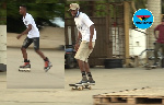 Some skaters at the Unity Skating club in Accra