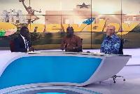 Matthew Nyindam (middle) on TV3's NewDay