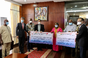 The two companies, Sunon Asogli Power and AWA, offered to donate US$100,000 each.