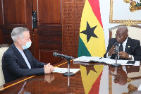 Dr Nosra Tollah Maleki with President Nana Akufo-Addo