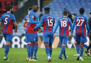 Black Stars defender, Jeffrey Schlupp and Crystal Palace teammates