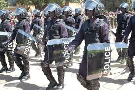 Some Burkinabé police officers