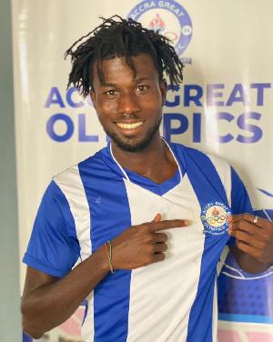 Great Olympics defender, Solomon Adomako