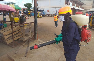 File Photo; market disinfection