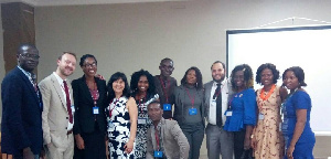 Some members of United Nations University Institute for Natural Resources in Africa (UNU-INRA)