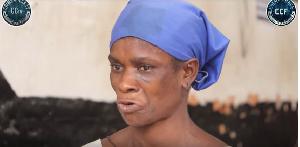 Akua Afriyie in an interview with Crimecheck Ghana