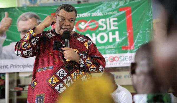 NDC's presidential aspirant, Goosie Tanoh
