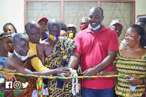 MP for  Atwima Mponua, Isaac Kwame Asiamah commissioning the Anwiafutu Health Centre