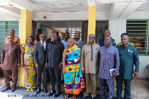 Samuel A. Jinapor with newly MDF Board