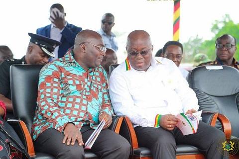 Nana Addo Dankwa Akufo-Addo, President of Ghana (right) and Mahamudu Bawumia,Vice-President (left)