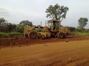 The road is under construction