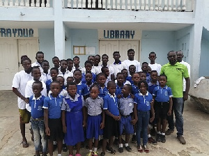 Some pupils within the Ga West municipality who were sensitised on how to avoid kidnappers