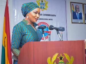 Samira Bawumia Addressing Indian Delegates