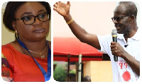 Chair of the Electoral Commission, Charlotte Osei and Dr. Papa Kwesi Nduom