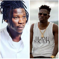 Dance Hall musicians, Stonebwoy (L) and Shatta Wale(R)