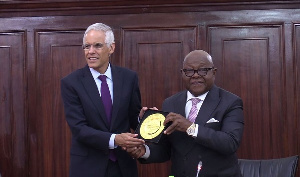 Prof Aaron Mike Oquaye and Ambassador Julian Ventura, Deputy Foreign Affairs Minister of Mexico