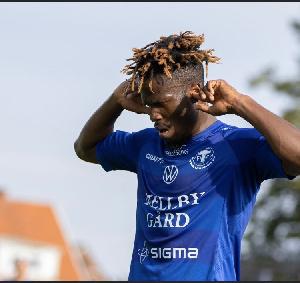 Safiu hit a hat-trick for Trelleborgs FF