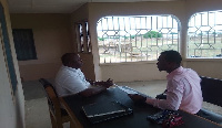 Executive Director of LOAD Ghana Foundation speaking in an interview at the rehab centre