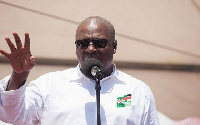 John Mahama is accused by some members of governing NPP of taking his campaign to schools