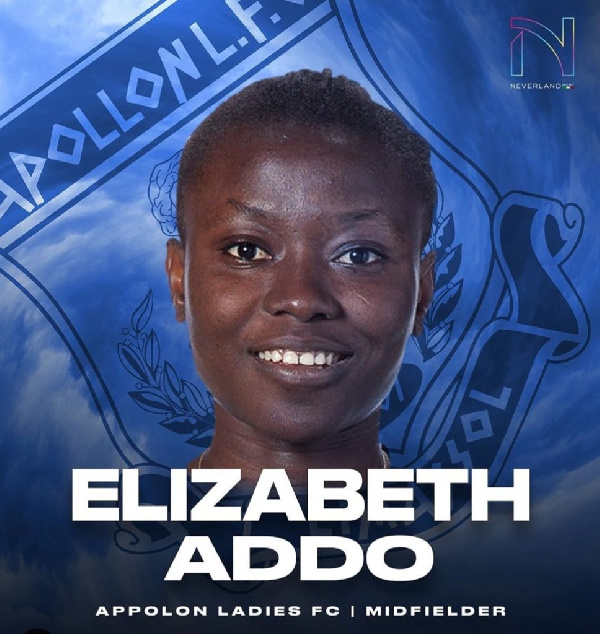 Elizabeth Addo joins Apollon Ladies FC in Cyprus