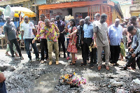 Major sanitation problem, the MP said, had been piles of refuse, drains and bad roads