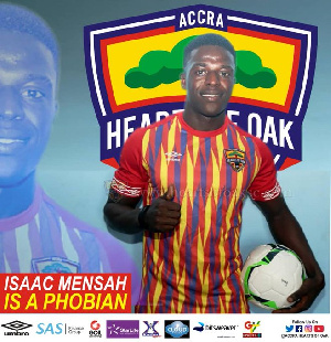 Isaac Mensah has signed a three-year deal with the Phobians
