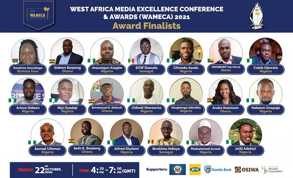 West Africa Media Excellence Awards 2021: List of finalists