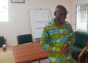 Director of Agric in charge of extension services of the Shai Osudoku Dept. of Agric, Mr. Jonathan N