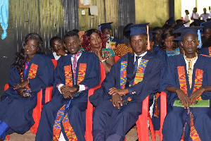 Some graduating students from Enchi College of Education