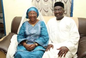 Hajia Mariama Bawumia and Vice President, Dr Mahamudu Bawumia