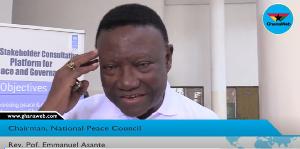 Chairman of the National Peace Council, Rev. Emmanuel Asante
