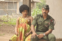 Rita Dominic and Ramsey Nouah on set