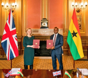 The deal means Ghanaian products will benefit from tariff-free to the United Kingdom