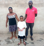 Couple in grips of Akuse police for allegedly scalding hands of 11-year-old girl