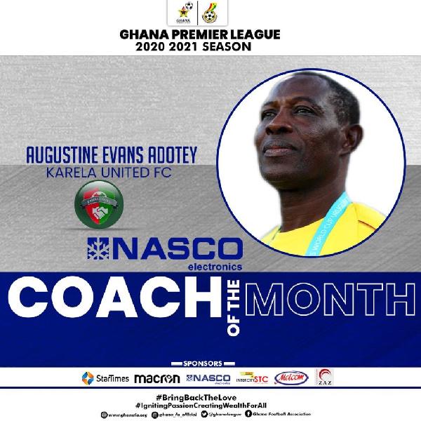 Karela United coach, Evans Adotey