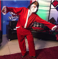 Selly Galley-Fiawoo dressed as Santa