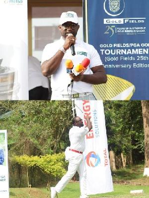 Mr. Tony Kwame Mintah, president for the Ghana Professional Golfers Association