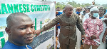 Akufo-Addo's bodyguard cuts sod for Library, cemetery wall at Asamankese