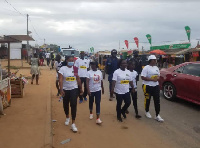 The unity walk formed part of planned activities to promote peace before, during, after elections