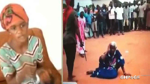 Latifah Bumaye was caught on video whipping the old lady with what looked like a belt