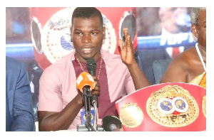 Former IBF lightweight Champion, Richard Oblitey Commey