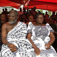 Late Ebony's parents at her funeral