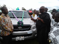 Health Director donates a Toyota Hilux Pickup to the Asuom Health Center