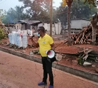 NCCE Adaklu District Officer, Francis Asamani embarks on public sensitization