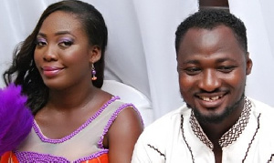 Ghanaian comedian Funny Face and his ex wife, Elizabeth Adjoa Ntim