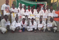 The children were awarded certificates after the event