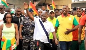 Dr Mahamadu Bawumia during the walk