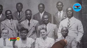 A photograph with members of Akufo-Addo's family at the Deo Gratias studio in Jamestown