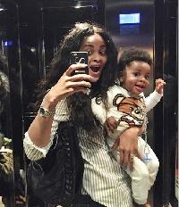 Menaye Donkor with baby Jamal