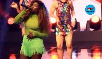 Nigerian singer Tiwa Savage at the 2017 edition of Aiteo CAF Awards